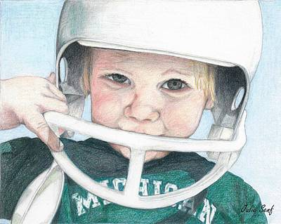 Michigan State Drawing - Little Cashers by Julie Senf