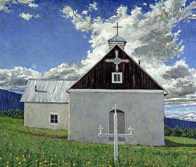 Little Church At Ocate Print by Steven Boone