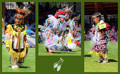 Pow Wow Photograph - Little Competitors by Theresa Tahara