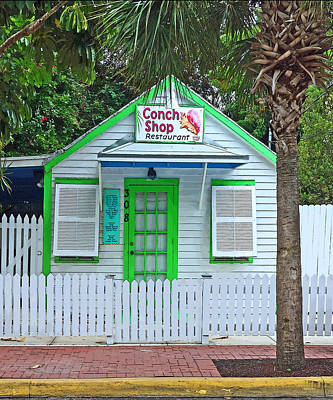 Old House Photograph - Little Conch Shop Key West by Rebecca Korpita