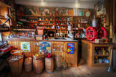 Little Country Grocery  Print by Debra and Dave Vanderlaan