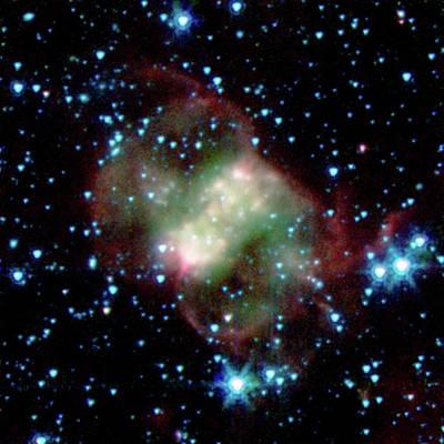 Little Dumbbell Nebula Print by Nasa/jpl-caltech/j. Hora (harvard-smithsonian Cfa)
