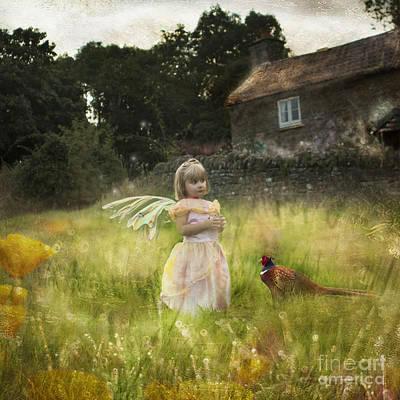 Pheasant Digital Art - Little Elf And Her Friend by Angel  Tarantella