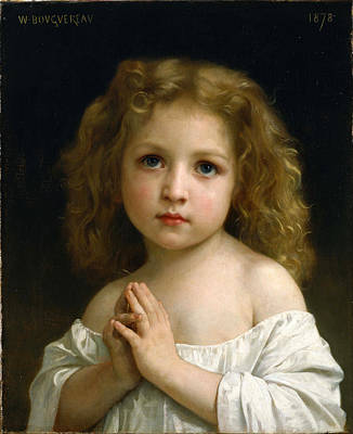William-adolphe Bouguereau Painting - Little Girl by William-Adolphe Bouguereau