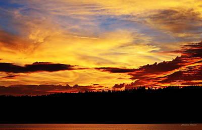 Sunset Photograph - Little Grass Valley Sunset by Christina Ochsner