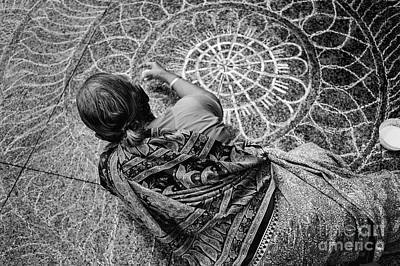 Rangoli Photograph - Little India Kolam by Dean Harte