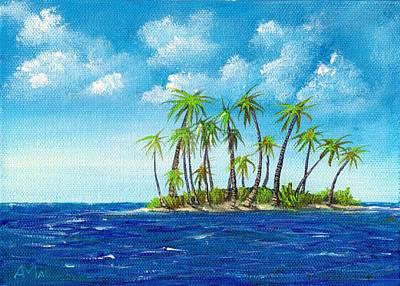 Drawing - Little Island by Anastasiya Malakhova