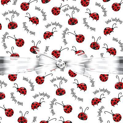 Ladybug Digital Art - Little Ladybug Treats by Debra  Miller