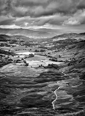 Rain Photograph - Little Langdale Tarn by Alexis Birkill