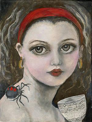 Little Miss Muffet  Original by Annora Anne