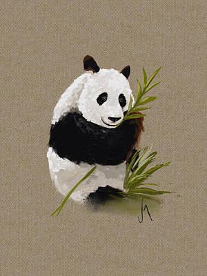 Digital Painting - Little Panda by Veronica Minozzi