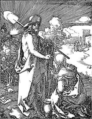 Religious Artist Drawing - Little Passion Engraving by