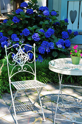 Flower Gardens Photograph - Little Patio Chair by Jan Amiss Photography