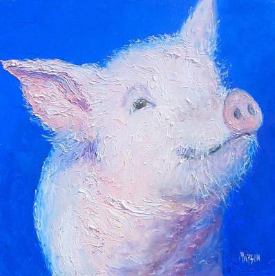 Little Piglet Print by Jan Matson