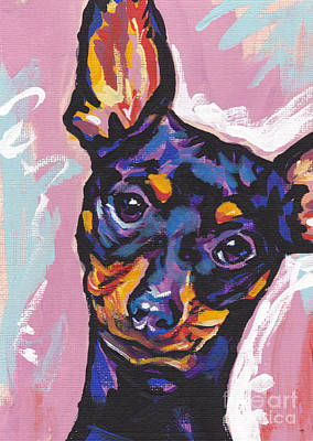 Puppy Painting - Little Pin by Lea S