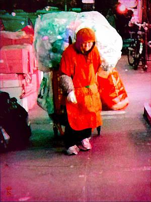 Little Red Cap In New York Original by Li   van Saathoff