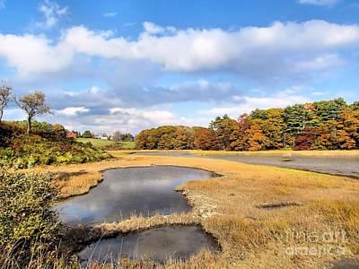 Autumn Photograph - Little River Salt Marsh by Elizabeth Dow