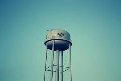 Little River Water Tower Print by KayeCee Spain
