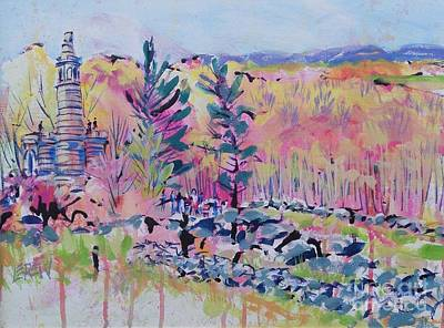 Fauvism Painting - Little Round Top Redbuds by Larry Lerew