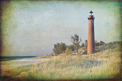Little Sable Lighthouse Print by Leo Cumings
