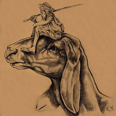Little Shepherd Print by Derrick Higgins