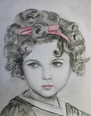 Shirley Temple Painting - Little Shirley Temple by Kelly Mills