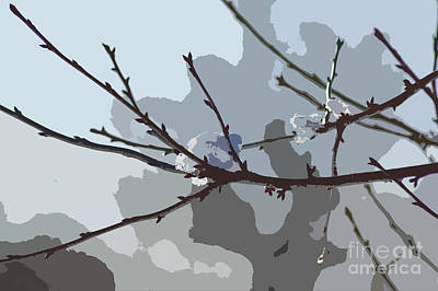 Abstract Forms Digital Art - Little Snowball by Carol Lynch