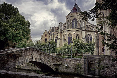 Little Stone Bridge By The Church Original by Joan Carroll