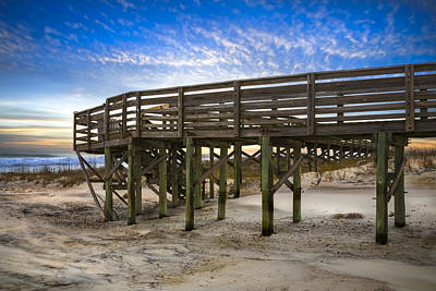 Sunset At The Bridge Photograph - Little Talbot Island by Debra and Dave Vanderlaan