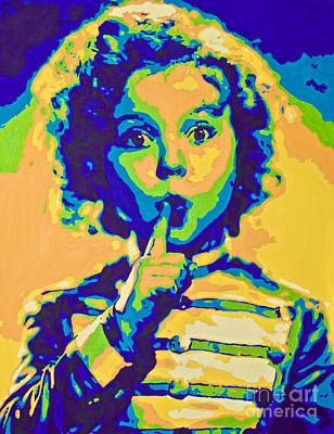 Shirley Temple Painting - Little Technicolor Soldier by Devan Gregori