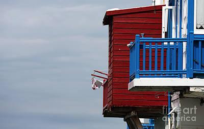 Architecture Photograph - Little Venice Blue Balcony by John Rizzuto