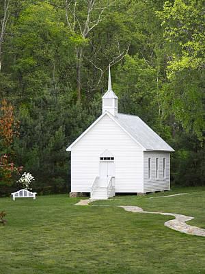 Little White Church Print by Mike McGlothlen