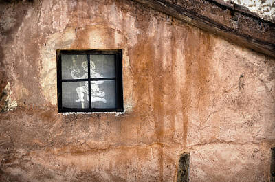 Teruel Photograph - Little Window With Net Curtain On An Old House by RicardMN Photography