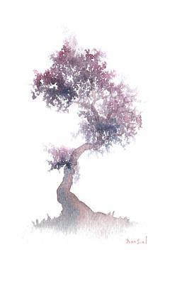 Little Zen Tree 1508 Print by Sean Seal
