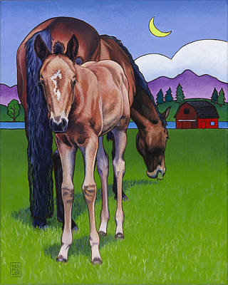 Farm And Barns Painting - Littlebit Of Whidbey by Stacey Neumiller