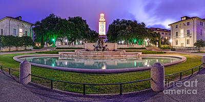 Austin Skyline Photograph - Littlefield Fountain At The University Of Texas In Austin Atx 512 by Silvio Ligutti