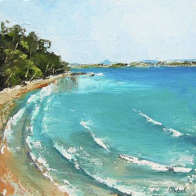 Painting - Litttle Cove Beach Noosa Heads Queensland Australia by Chris Hobel