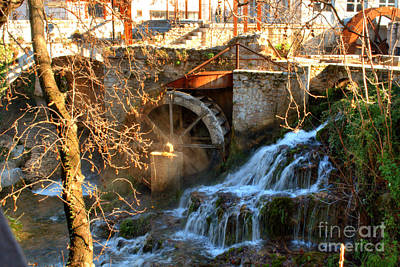 Stone Photograph - Livadia Waterfalls 2 by Deborah Smolinske