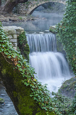 Stone Photograph - Livadia Waterfalls 4 by Deborah Smolinske