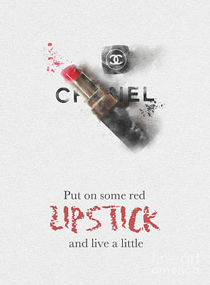 Chanel Mixed Media - Live A Little by Rebecca Jenkins