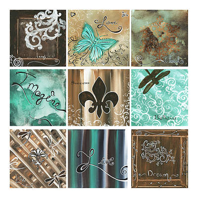 Fleur De Lis Painting - Live And Love By Madart by Megan Duncanson