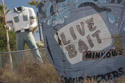Live Bait And The Man Print by Scott Campbell