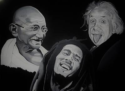 Einstein Painting - Live Love Laugh by Brian Broadway