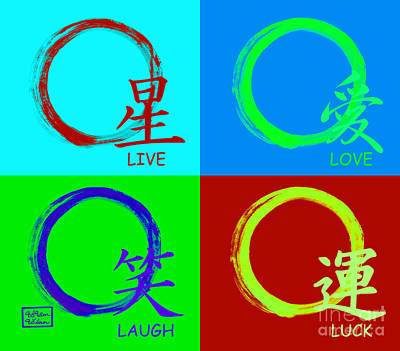 Live Love Luck Laugh Print by To-Tam Gerwe