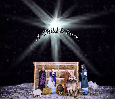 Bear Photograph - Live Nativity  A Child Is Born by LeeAnn McLaneGoetz McLaneGoetzStudioLLCcom