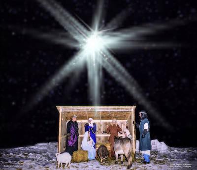 Bible Photograph - Live Nativity Grace Baptist Of Romeo by LeeAnn McLaneGoetz McLaneGoetzStudioLLCcom