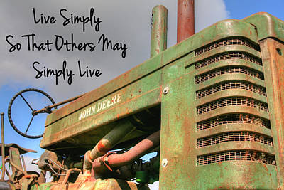 Country Scenes Photograph - Live Simply by Heather Allen