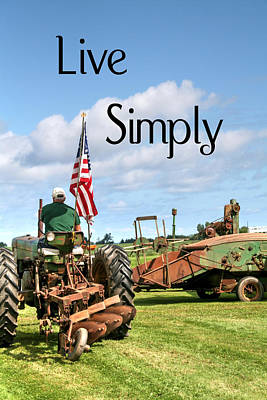 John Deere Photograph - Live Simply Tractor by Heather Allen