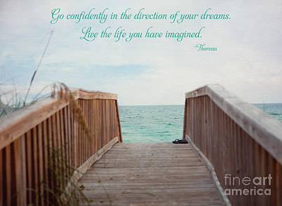 Live The Life You Have Imagined Print by Kay Pickens