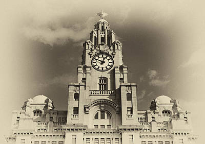 Scouse Photograph - Liver Buildings On Liverpool Waterfront by Ken Biggs